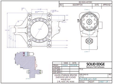 Solid-Edge-2D-Drafting